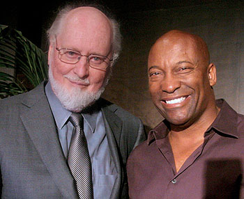 John Williams and director John Singleton '90